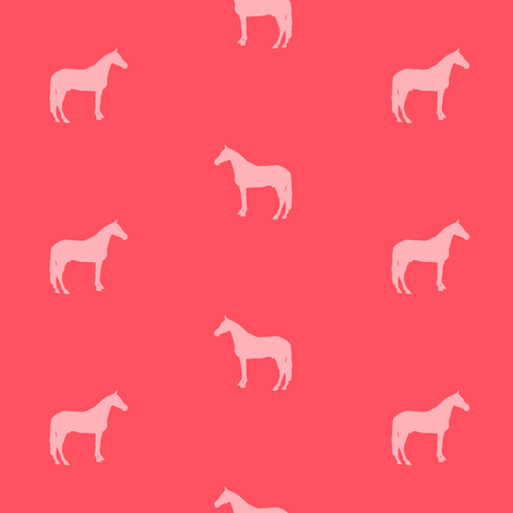 Warmblood Silhouette - Melon fabric by ragan on Spoonflower - custom fabric