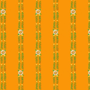 Daisy chain_orange_and_yellow