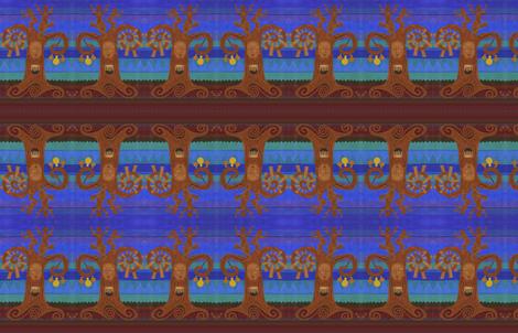 EthnomusicoloTree: Zimbabwe x 5 fabric by thecameronquinn on Spoonflower - custom fabric