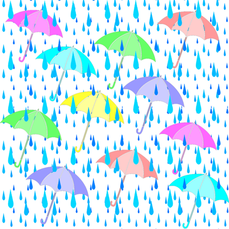 umbrellas fabric by krs_expressions on Spoonflower - custom fabric