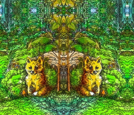 foxie-ed fabric by cherb on Spoonflower - custom fabric