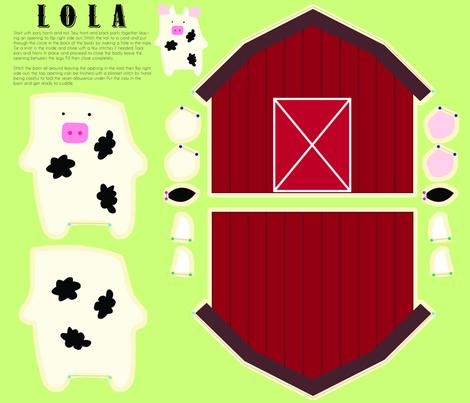 Lola  fabric by angel_mio on Spoonflower - custom fabric