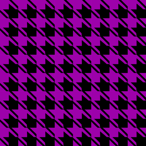 black purple houndstooth fabric by mojiarts on Spoonflower - custom fabric