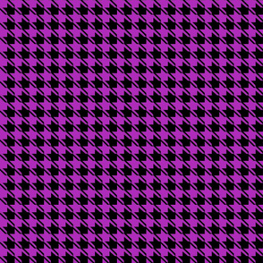 black purple houndstooth