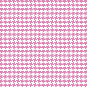 Houndstooth - Dusty pink and white