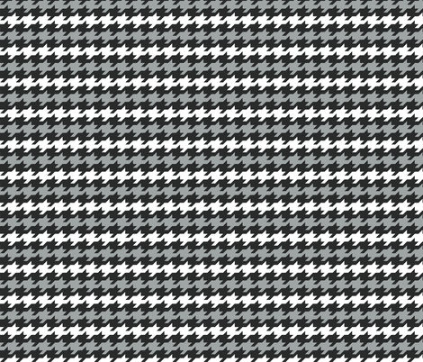 Houndstooth stripes - black, grey and white fabric by little_fish on Spoonflower - custom fabric