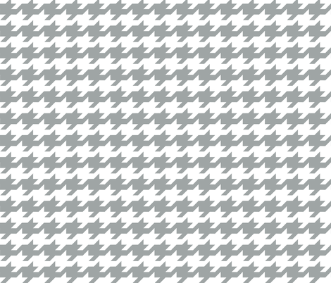 Houndstooth - grey and white fabric by little_fish on Spoonflower - custom fabric
