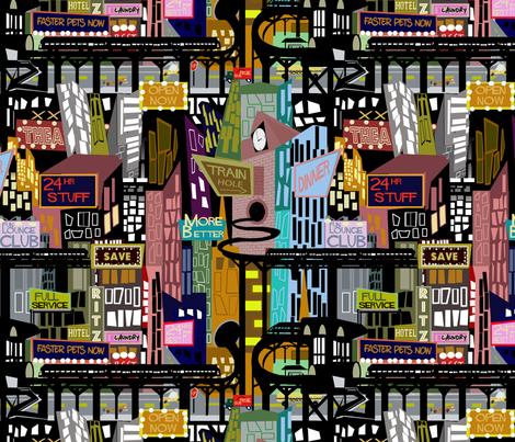 Midcentury City fabric by scottsherwood on Spoonflower - custom fabric