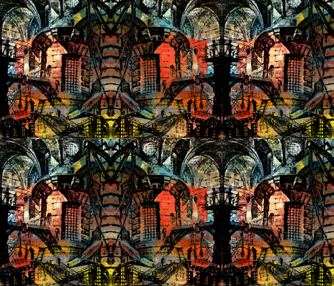 Gothic City fabric by whimzwhirled on Spoonflower - custom fabric