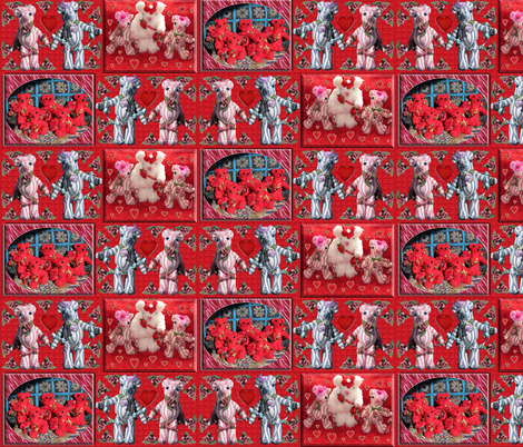 Valentine Teddy Bears fabric by eclectic_house on Spoonflower - custom fabric