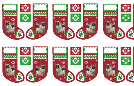 Frenchy_Christmas_stocking fabric by dogdaze_ on Spoonflower - custom fabric