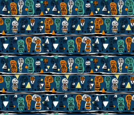 African dolls fabric by made_in_shina on Spoonflower - custom fabric