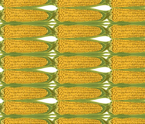 corn_stripe_vertical fabric by lfntextiles on Spoonflower - custom fabric