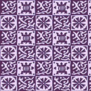 Inspired by African designs - purple