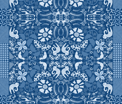 Adire Eleko fabric by mag-o on Spoonflower - custom fabric