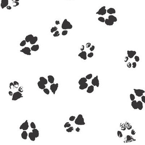 Dog Print Wallpaper dog paw fabric, wallpaper & gift wrap - spoonflower