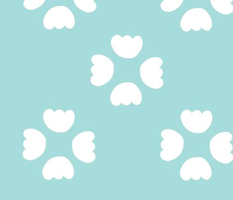 buds - aqua fabric by studio_ggc on Spoonflower - custom fabric