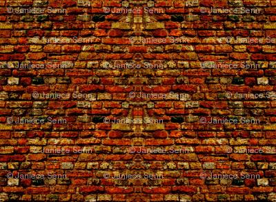 Doll house brick walls.