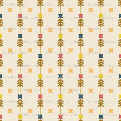 Floral Stripes Retro