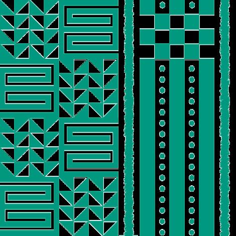 kijani tribal pattern fabric by stefaube on Spoonflower - custom fabric
