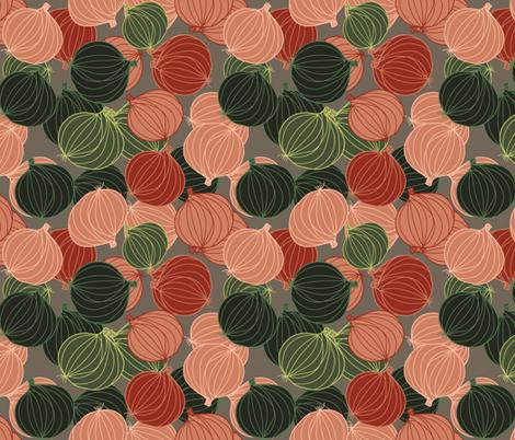 lots of onions fabric by kociara on Spoonflower - custom fabric