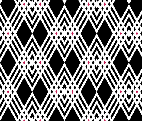 Diamond Inverted Plaid with Pink fabric by pond_ripple on Spoonflower - custom fabric