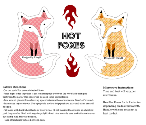 Hot Foxes fabric by kfrogb on Spoonflower - custom fabric