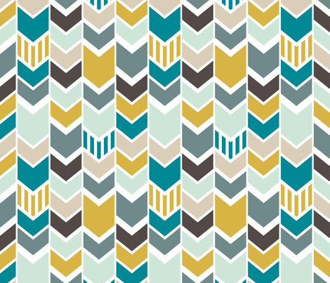 Nautical Chevron fabric by mrshervi on Spoonflower - custom fabric