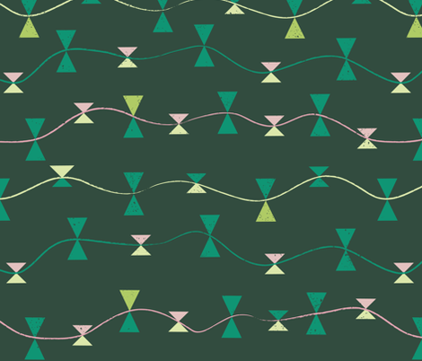 emerald_kitetails fabric by licoricelove on Spoonflower - custom fabric
