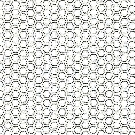 Calligraphy Honeycomb Fabric Spikymammal Spoonflower
