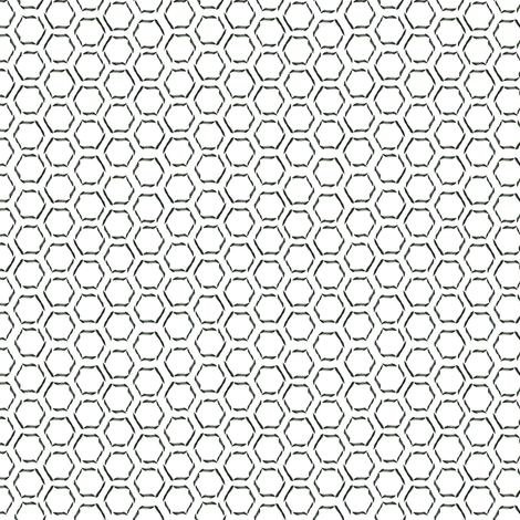 Calligraphy Honeycomb fabric by spikymammal on Spoonflower - custom fabric