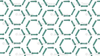 Turquoise Honeycomb