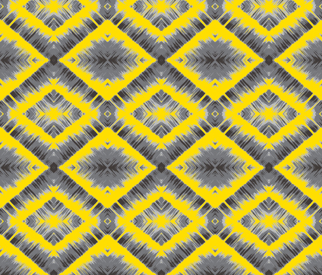 Gray and Yellow Waterfall fabric by mikep on Spoonflower - custom fabric