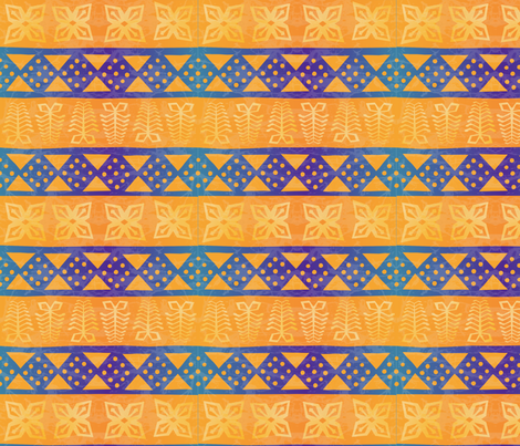african batik textile fabric by rubypixel on Spoonflower - custom fabric