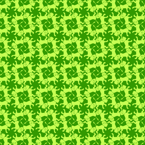 lions_in_green fabric by glimmericks on Spoonflower - custom fabric