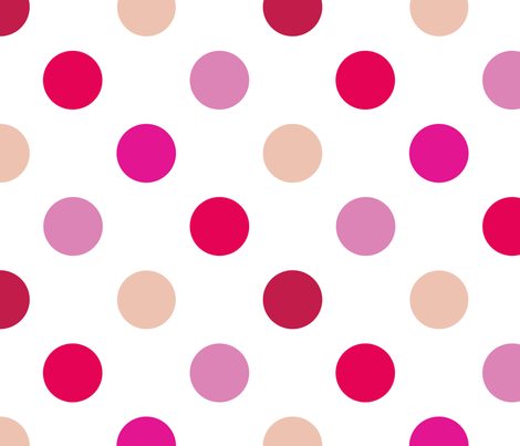 pois_moyen_multi_rose_L fabric by nadja_petremand on Spoonflower - custom fabric
