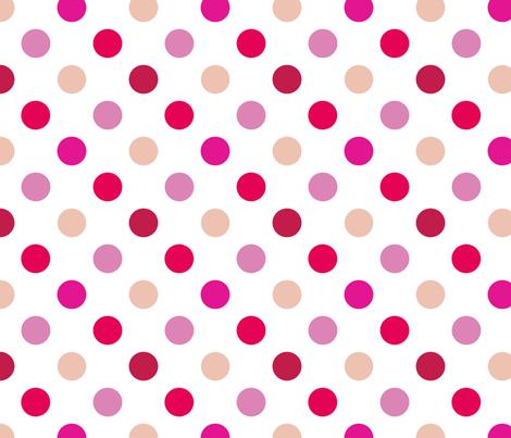 pois_moyen_multi_rose_M fabric by nadja_petremand on Spoonflower - custom fabric
