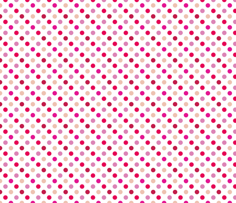 pois_moyen_multi_rose_S fabric by nadja_petremand on Spoonflower - custom fabric