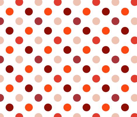 pois_moyen_multi_rouge_M fabric by nadja_petremand on Spoonflower - custom fabric