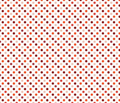 pois_moyen_multi_rouge_S fabric by nadja_petremand on Spoonflower - custom fabric