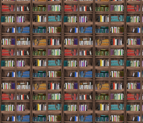 Bookcase fabric by cine on Spoonflower - custom fabric