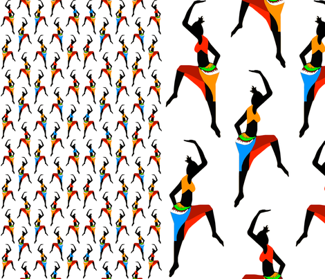dancing in the sun 1 fabric by tiina_laas on Spoonflower - custom fabric