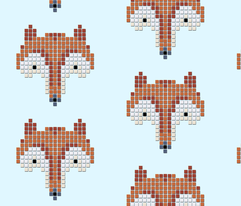 Fox fabric by cine on Spoonflower - custom fabric