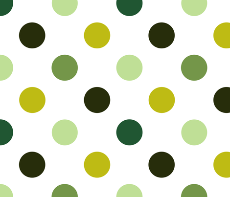 pois_moyen_multi_vert_L fabric by nadja_petremand on Spoonflower - custom fabric