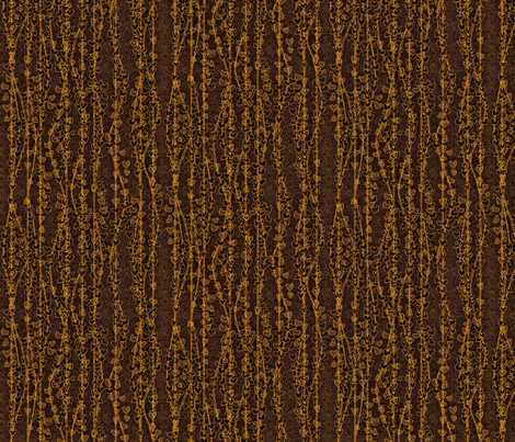 klimt_vines_earthen gold fabric by glimmericks on Spoonflower - custom fabric
