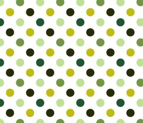 pois_moyen_multi_vert_M fabric by nadja_petremand on Spoonflower - custom fabric
