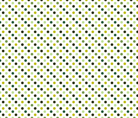pois_moyen_multi_vert_S fabric by nadja_petremand on Spoonflower - custom fabric