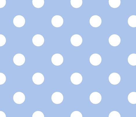 pois_blanc_fond_bleu_L fabric by nadja_petremand on Spoonflower - custom fabric