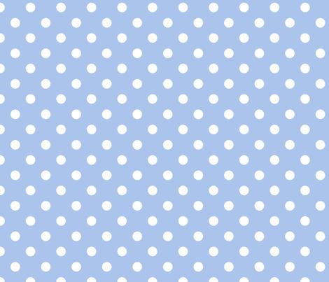 pois_blanc_fond_bleu_M fabric by nadja_petremand on Spoonflower - custom fabric