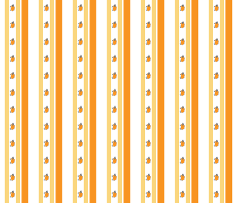 impossible sheep stripe orange fabric by mojiarts on Spoonflower - custom fabric